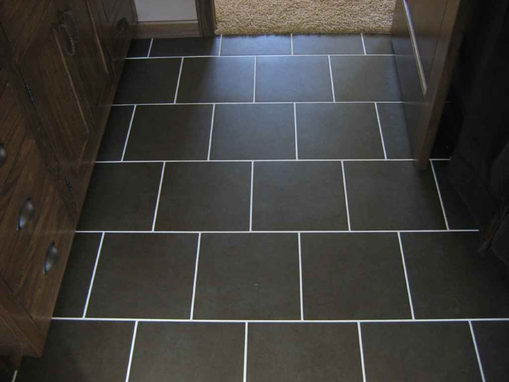 This is the look i was talking about for the hallway bathroom black brick porcelain tile flooring good possible layout for square tile dailygadgetfo Gallery