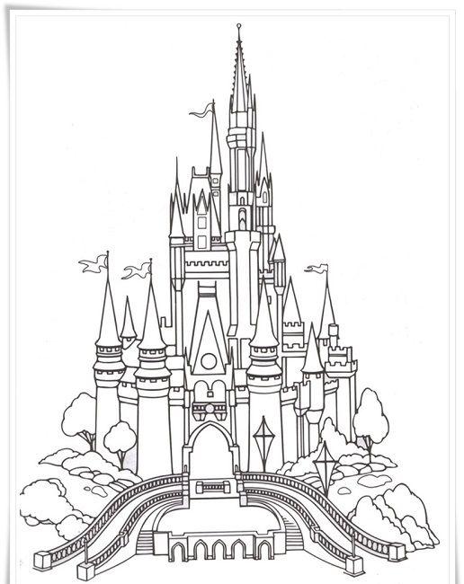 Frozen Castle Coloring Page Castle Coloring Page Disney Castle