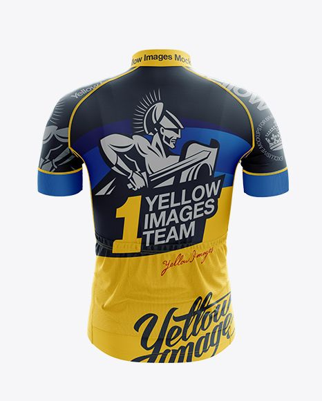 Download Men S Cycling Jersey Mockup Back View In Apparel Mockups On Yellow Images Object Mockups Clothing Mockup Design Mockup Free Shirt Mockup