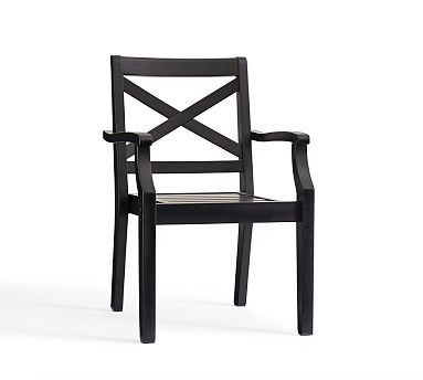 Hampstead Painted Stacking Dining Chair Black Outdoor