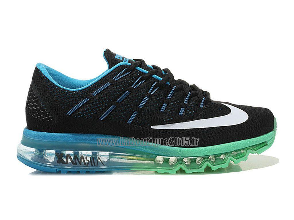 official photos 8d16c ea3e0 Officiel Nike Air Max 2016 Chaussures Nike Running Pas Cher Pour Homme Noir  Bleu Vert Blanc 764892-ID02