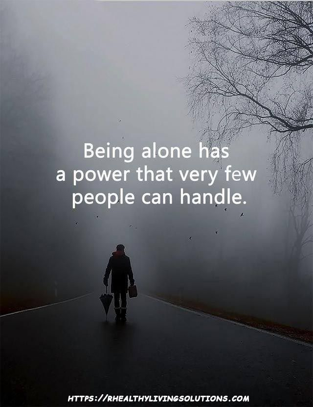 Being alone....it's important for your soul.