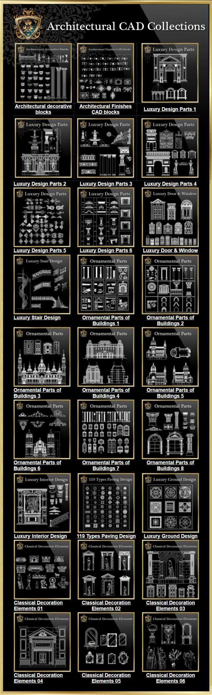Architektonische CAD-Zeichnungen Bundle】 (Best Collections ...