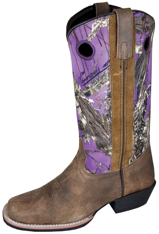 da3272122ed Smoky Mountain Boots Womens Tupelo Brown/Purple Distress Leather ...