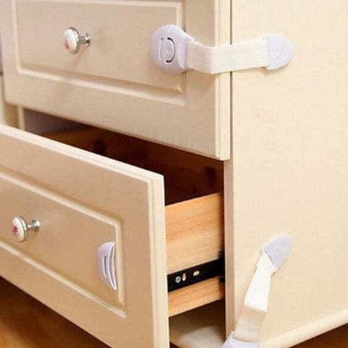 Toddler Infant Child Kids Baby Safety Latches Cabinet Drawer Door Fridge Locks