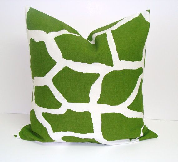 Pillow.Animal.16x16 inch.Decorator Pillow Cover.Free Shipping.Printed Fabric Front and Back. $17.00, via Etsy.