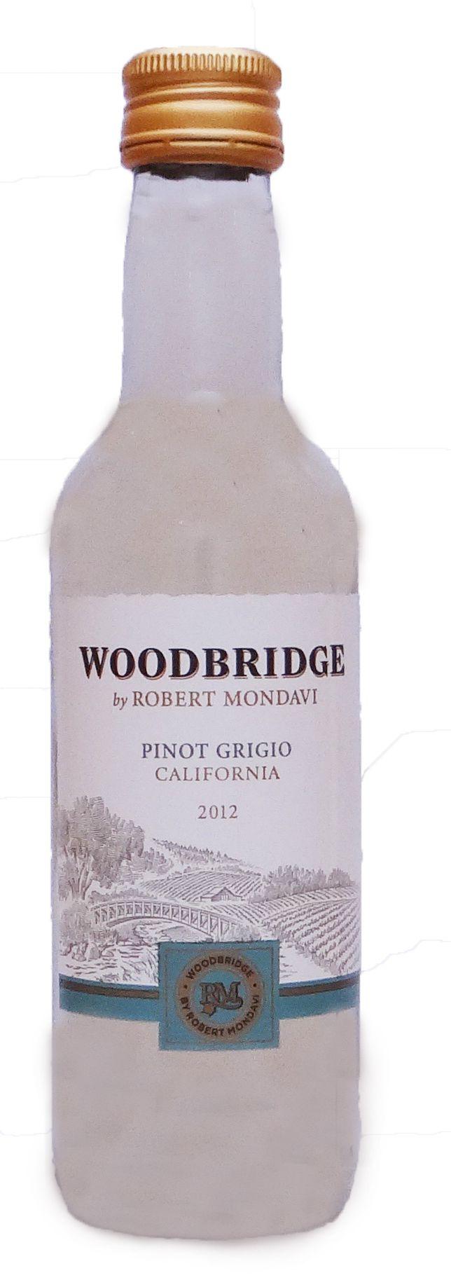 Mini bottle of Woodbridge Pinot Grigio wine   Wedding ideas ...