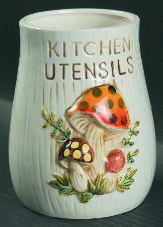 Merry Mushroom Kitchen Utensils Holder Mushroom Decor Vintage Mushroom Decor Vintage Mushroom
