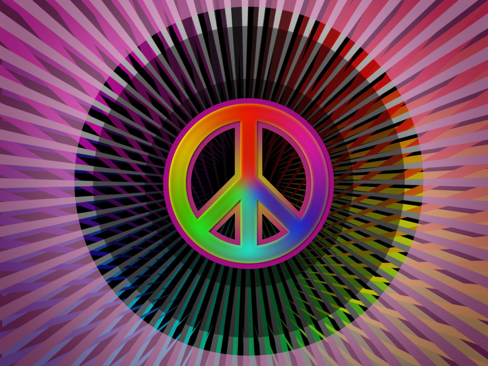 Colorful Peace Wallpaper Desktop Background Peace sign