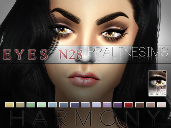 Harmony Eyes N28 by Pralinesims at TSR via Sims 4 Updates