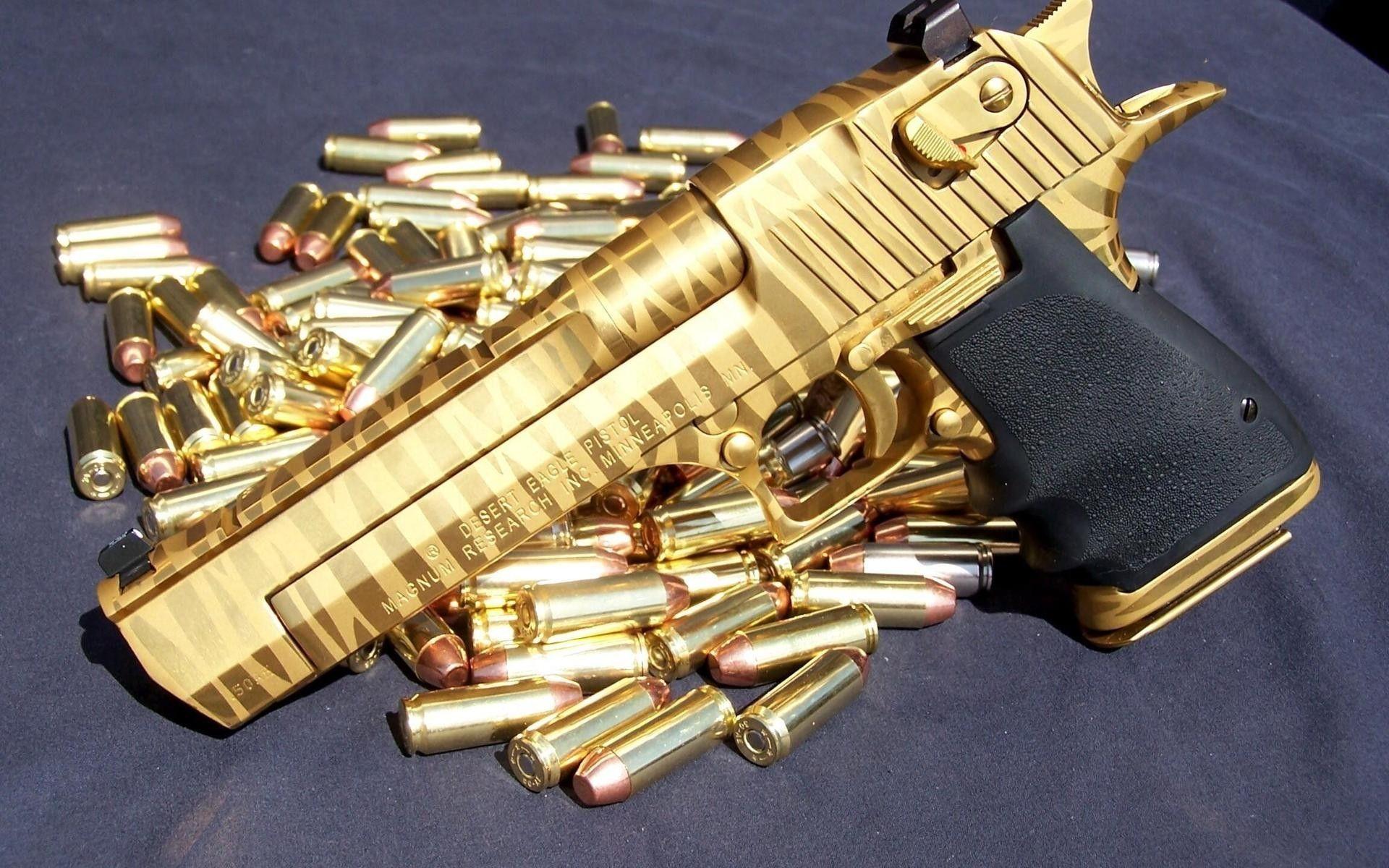 Gold Guns Wallpaper For Windows Z5l