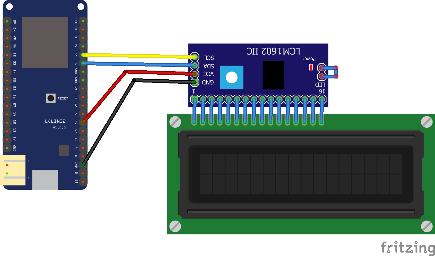ESP32 and I2C LCD example #esp32 | Мастерская in 2019
