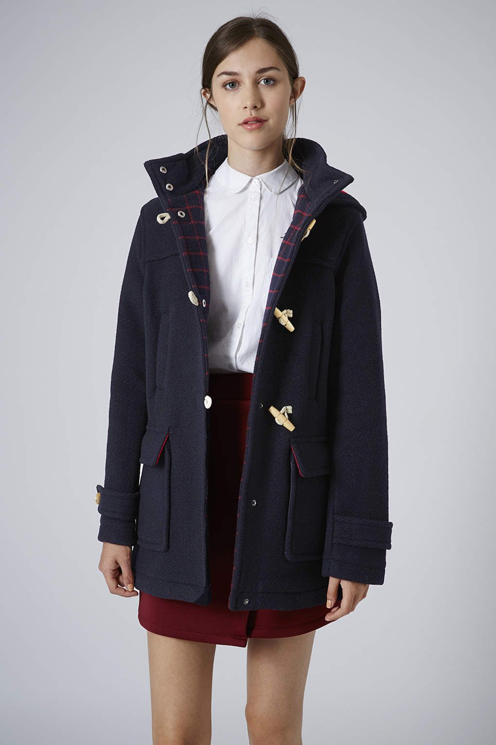 Bound Seam Wool Duffle Coat - Jackets & Coats - Clothing - Topshop ...