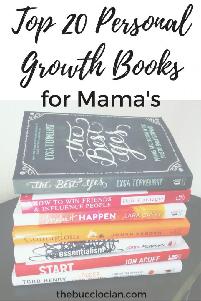 Self care is so important for mama's mental and physical health. Personal growth falls into that self care category. Top 20 Personal Growth Books for Mama's
