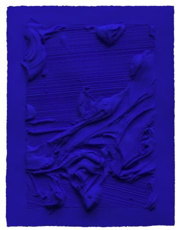 2014 IFPDA Preview - Untitled Ives Klein Blue - Jason Martin
