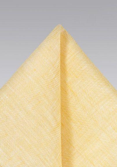 de2bb89c4c8a6 Lemon Yellow Linen Pocket Square | Bows-N-Ties.com | Pocket Squares ...