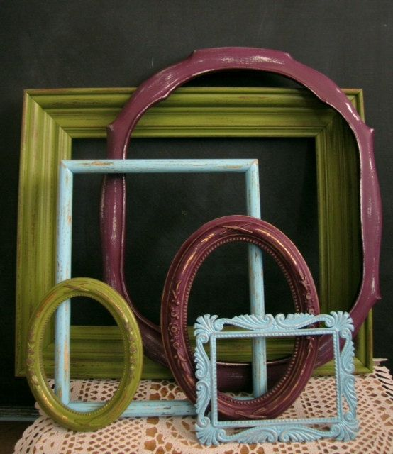 Shabby Chic Distressed Vintage Frames Beach Cottage California ...