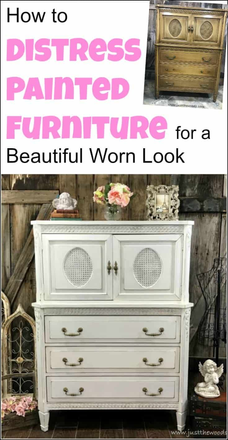 How to Distress Painted Furniture for a Beautiful Worn ...