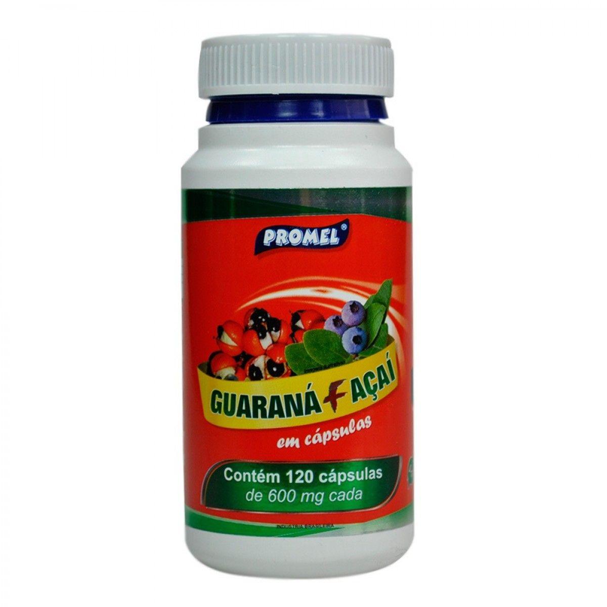 Guaraná 500 mg 120  cápsulas Promel