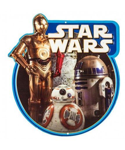 Star Wars Droids Embossed Metal Sign