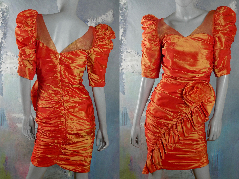 Blue Satin Strapless Evening Dress W Material Belt W Diamante Etsy Satin Evening Dresses Dresses 80s Prom Dress [ 2250 x 3000 Pixel ]