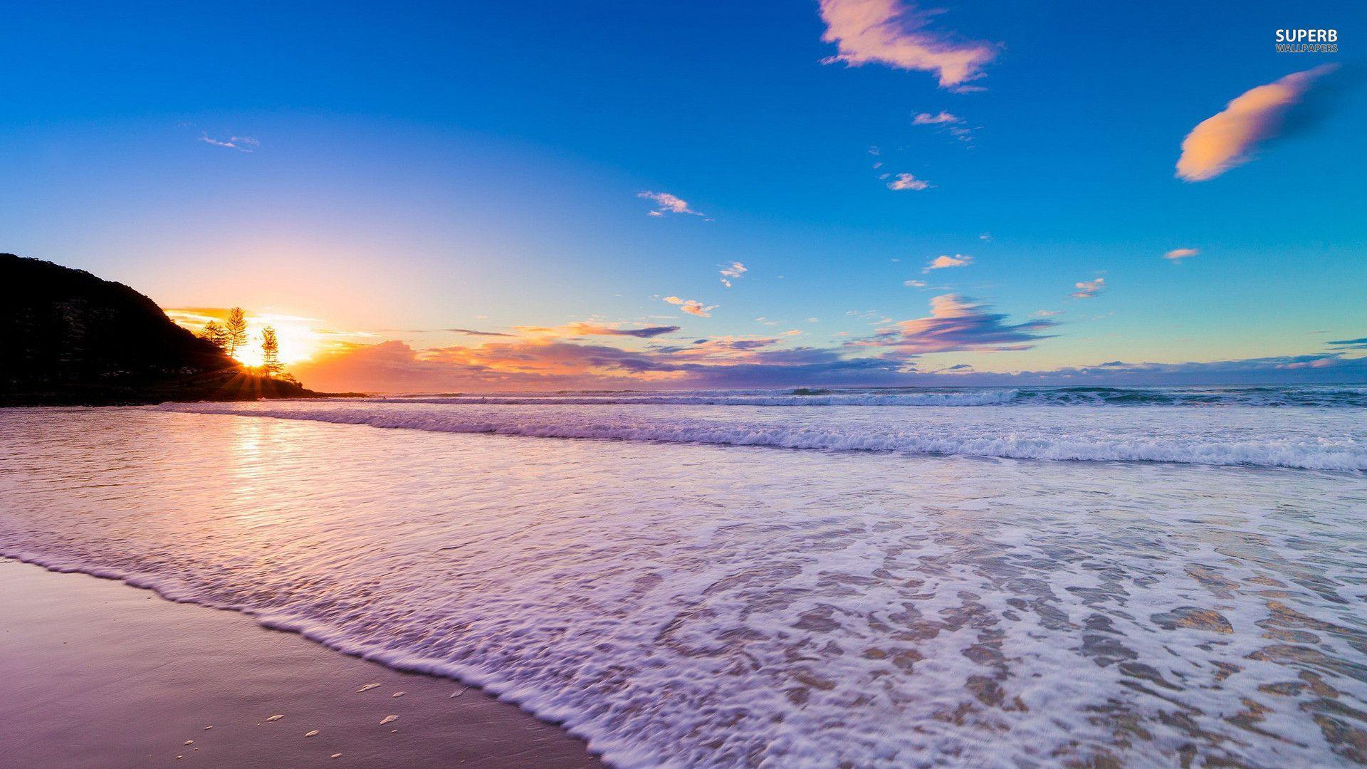 1920x1080 Hd Wallpaper Beach Beach Wallpaper Ocean Wallpaper Waves Wallpaper