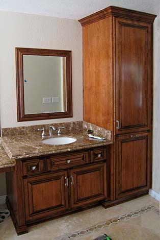 Tall Cabinetdoor Arrangement To Match Existing Builtin Cabinet - Pre made bathroom vanities