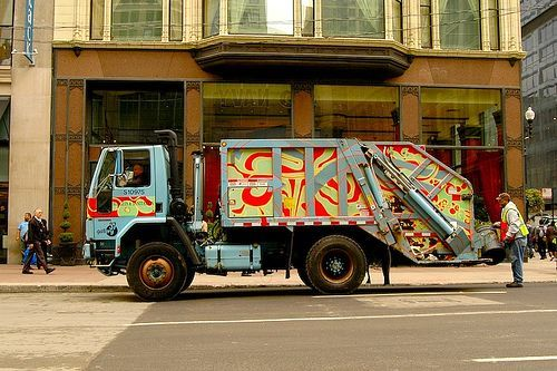 Decorated Garbage Truck With Images Garbage Truck Trucks Garbage