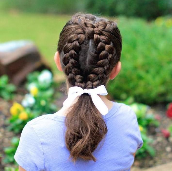 Braids And Pony For Little Girls Wedgehairstyleslayered Wedge