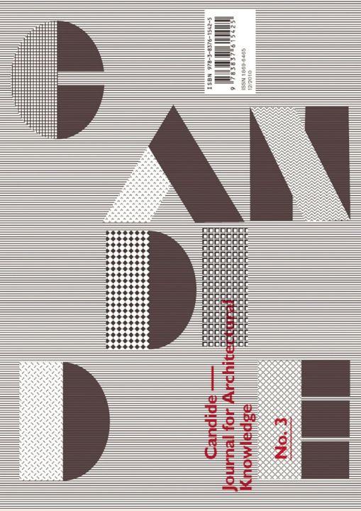 Candide 3: Journal for Architectural Knowledge,   Transcript Verlag, 2010