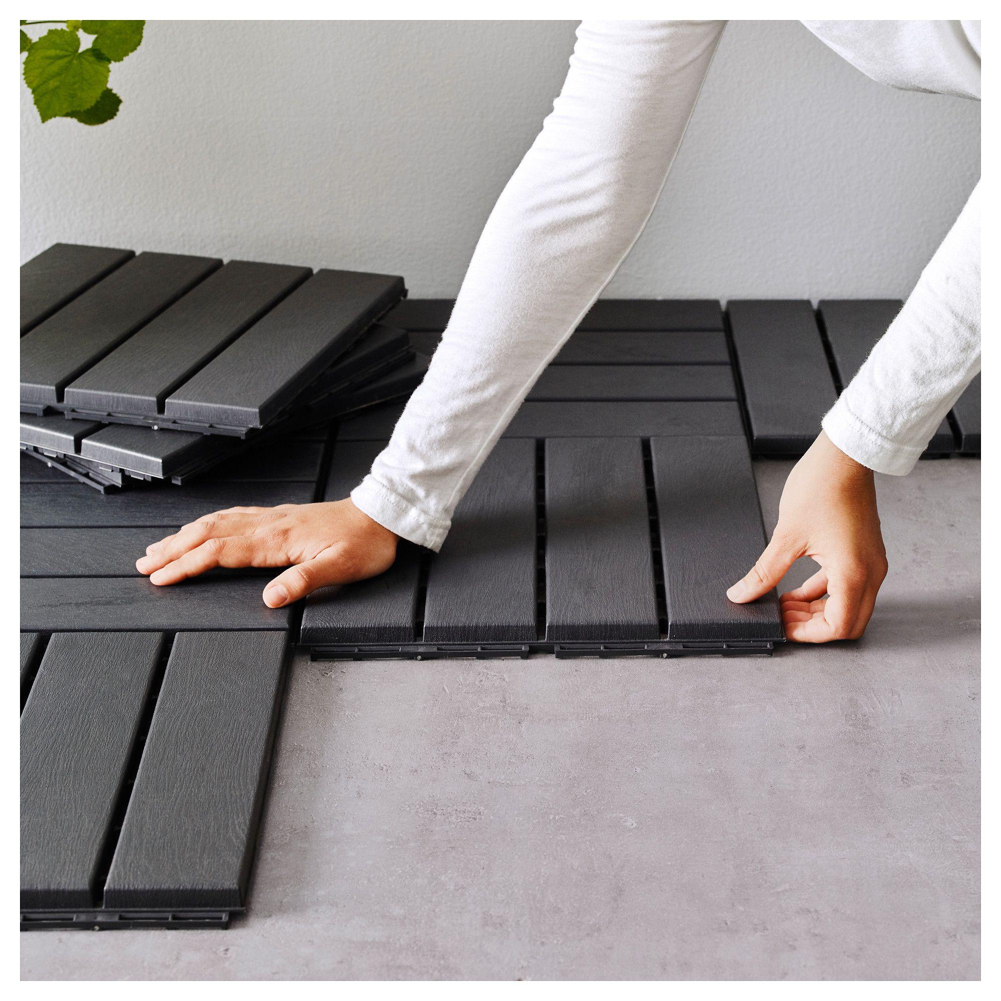IKEA RUNNEN Dark Gray Decking, outdoor Building a deck