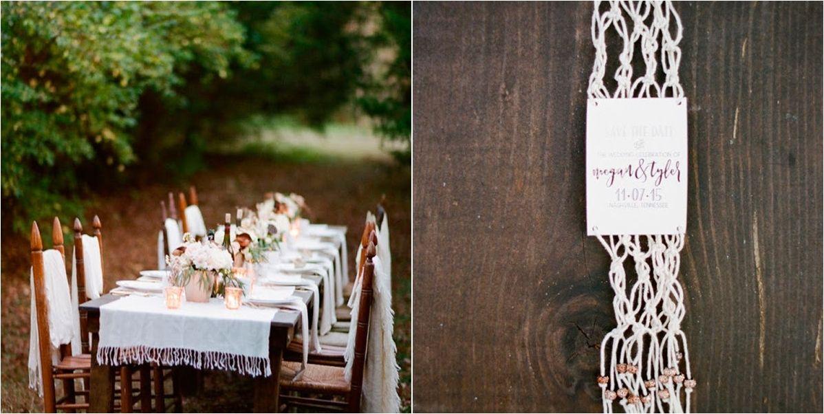 Macramé para tu boda: ¡una mesa de invierno!