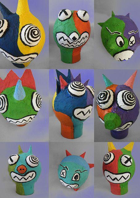 Big Heads Creatief Groep 7 Kinderbasteleien Kunst Für Kinder En