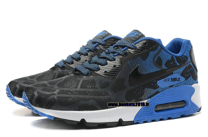Nike Air Max 90 Nike Officiel Chaussures De Running Pour Homme Bleu - Noir - Blanc