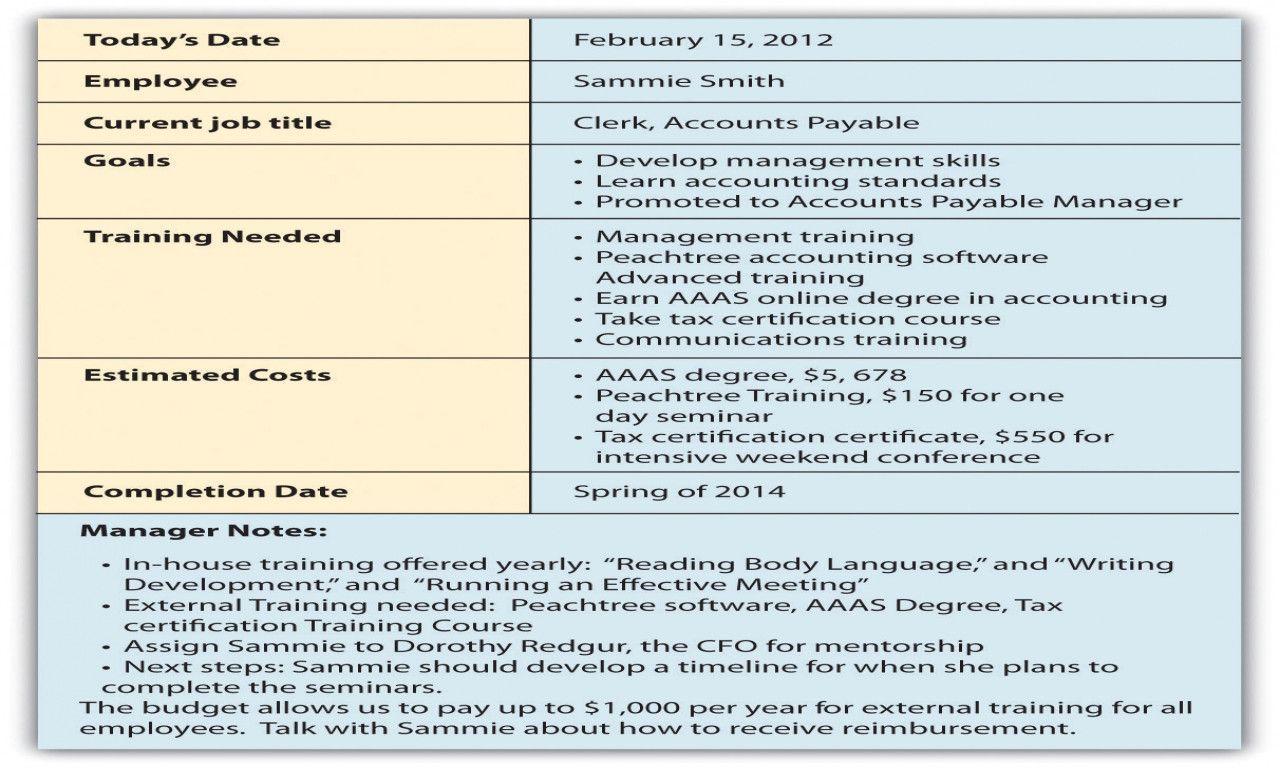 Career Development Plan Template Trendy Employee Career