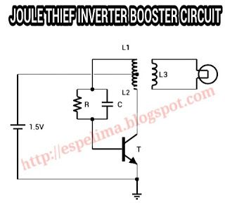 Joule Thief Inverter 1 5v To 220v Ac Light Skema Circuit Dekorasi