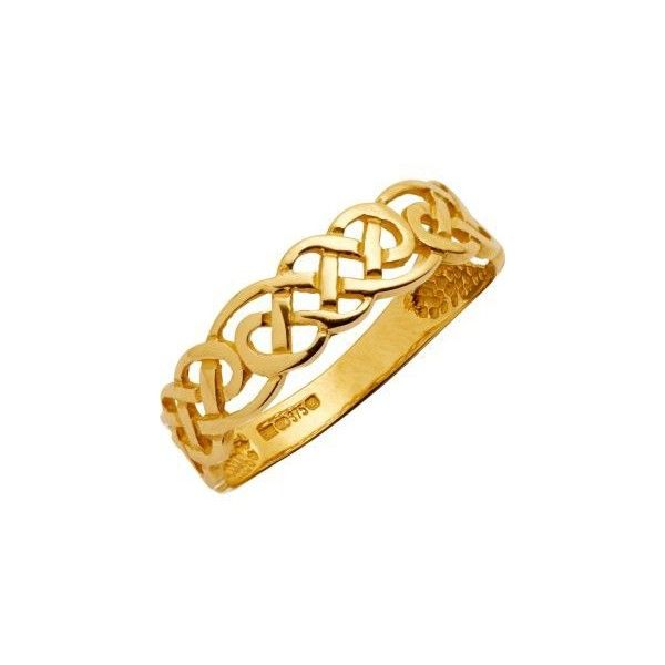 Buy 9ct Gold Celtic Style Band Ring at Argos.co.uk - Your Online Shop... ($105) ❤ liked on Polyvore