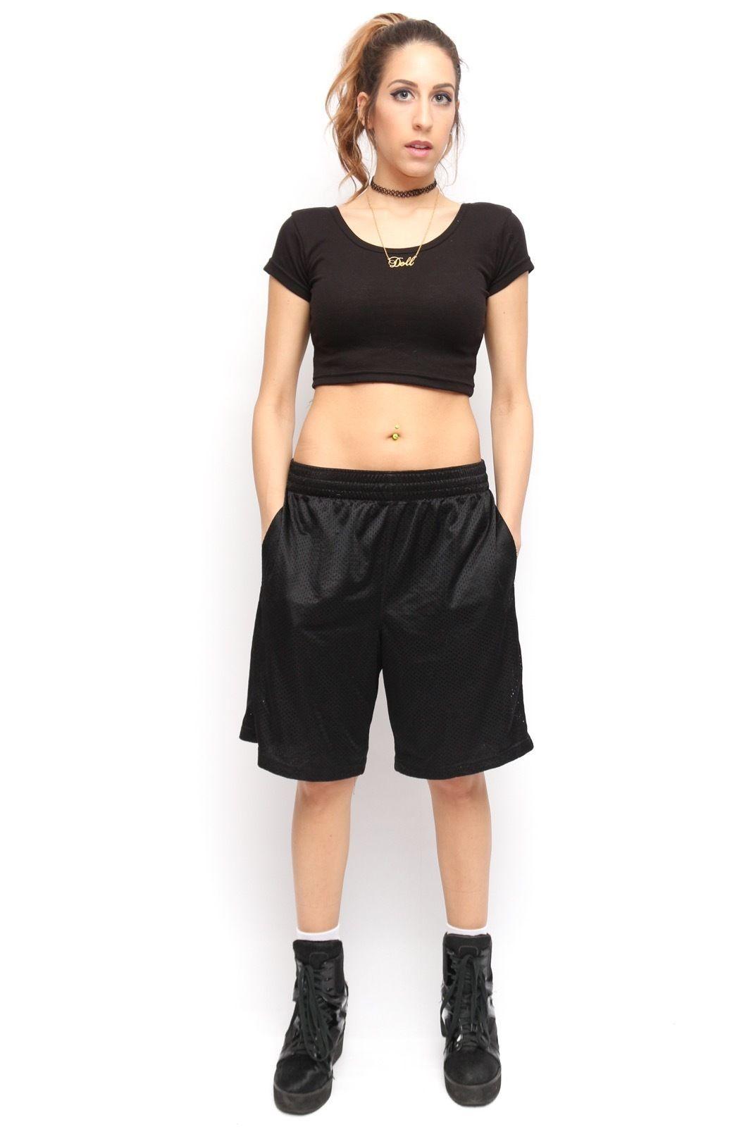 Athletech Black Mesh Vintage 90 S Style Hip Hop Basketball Shorts Basketball Shorts Black Mesh Shorts