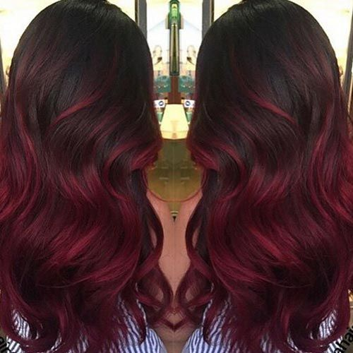 Cherry Red Ombre Hair Color