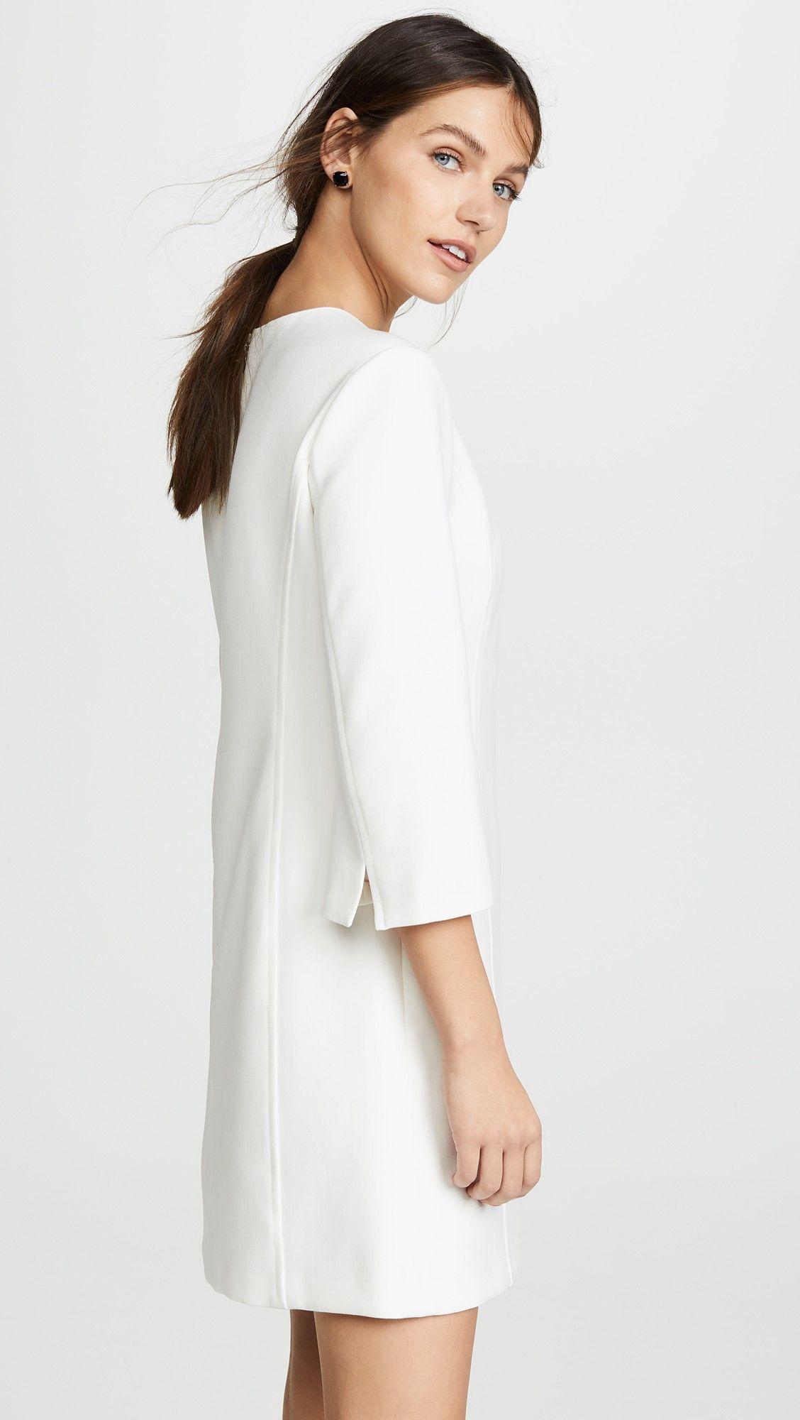 Alice Olivia Gem 3 4 Sleeve Shift Dress In 2021 Shift Dress Dresses Day To Night Dresses [ 2000 x 1128 Pixel ]