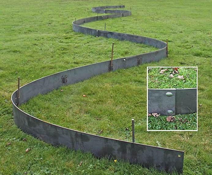 metal lawn edging cover | landscape | Metal lawn edging