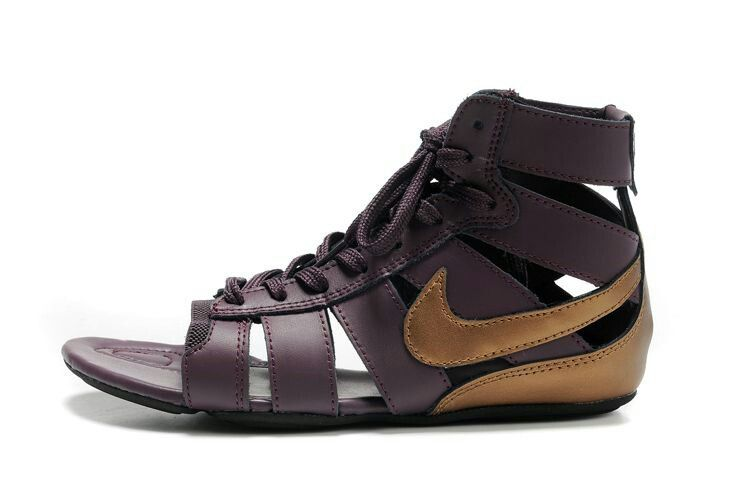 c45e87ca4729 Purple and Gold Nike womens gladiator sandal