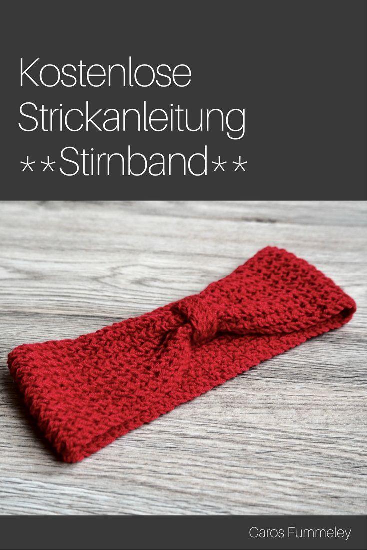 Gestricktes Stirnband mit doppeltem Faden – kostenlose Anleitung ...