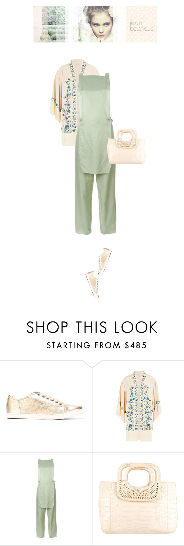 """""""jardin botanique"""" by pinkchampagneme ❤ liked on Polyvore featuring Lanvin, Talitha, MM6 Maison Margiela and Nancy Gonzalez"""