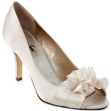 Jacqueline Ferrar Bridal Tiffany Peep Toe Pumps Jcpenney Bridesmaid Shoes Satin Heels Peep Toe Pumps