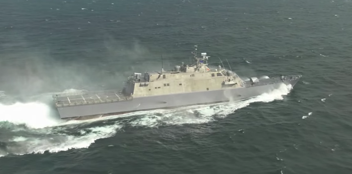 Watch This Navy 'Jet' Boat Tear Through Ocean Like a