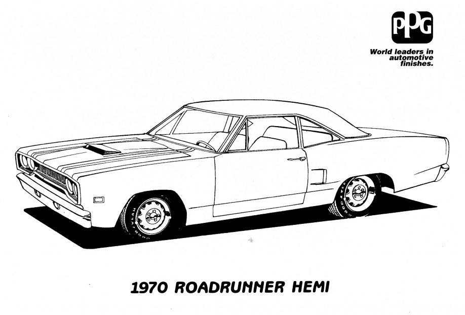 63 Coloring Pages Muscle Cars Pictures