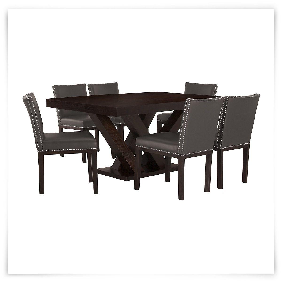 Tiffany dark gray rectangular table u bonded chairs chairs