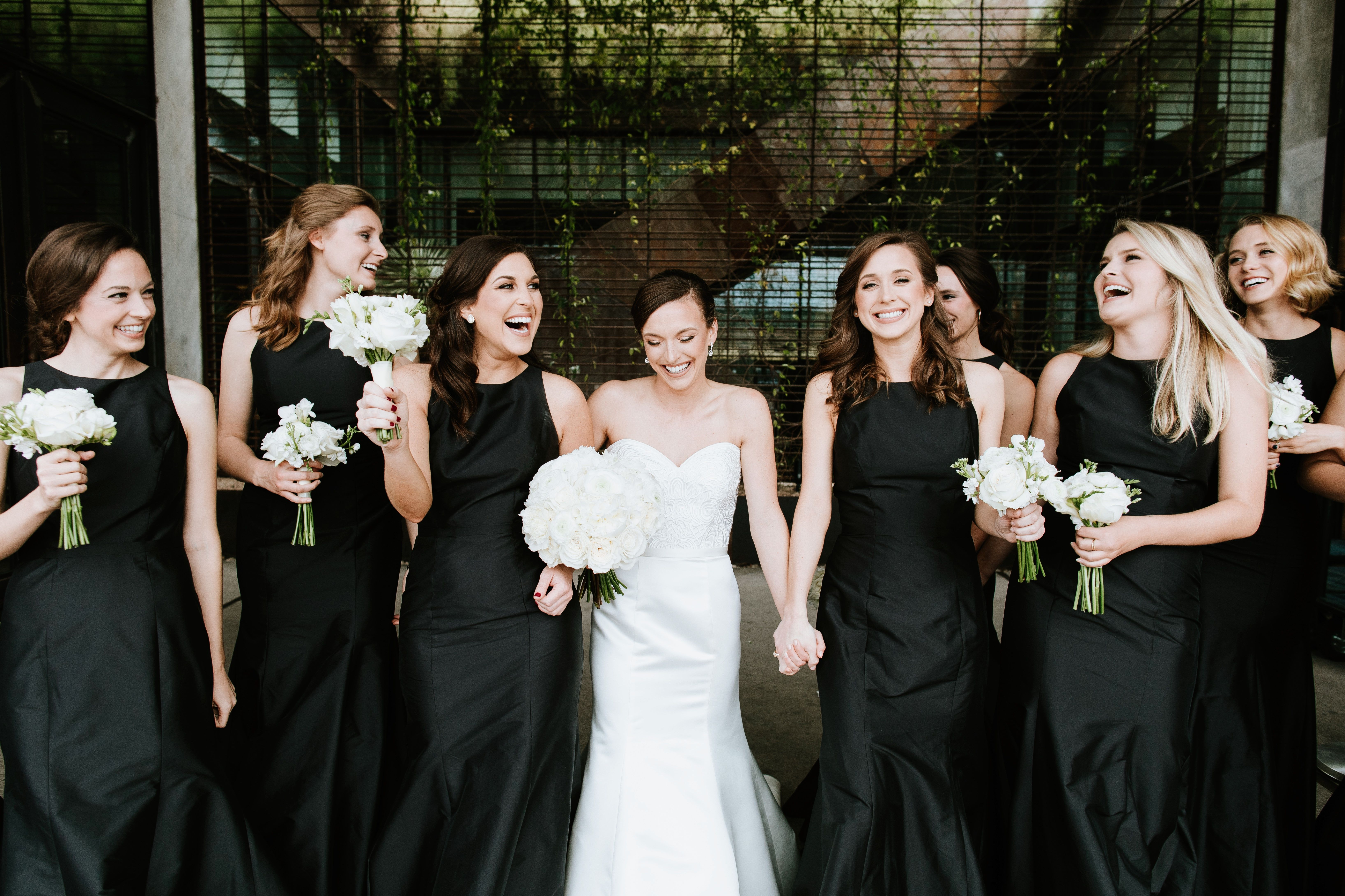 Bridesmaids before the wedding at South Congress Hotel in