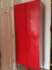 Ikea storage cabinet (locker style) RED | Ikea storage cabinets ...